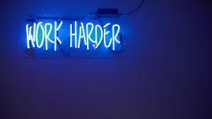 Work Harder in neon